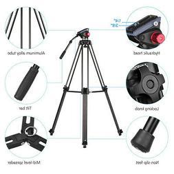 Andoer Professional Aluminum Alloy Cameras Video Tripod Hydr