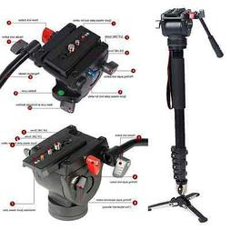 Professional Heavy Duty Fluid Monopod Head kit video cameras