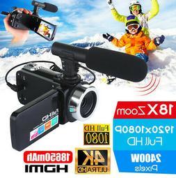 Professional 4K HD Video Camera Night Vision 18x HD 1080P Zo