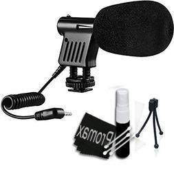 Promax Mini Zoom Video Camera Shotgun Microphone for Canon E