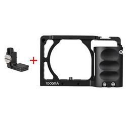 Andoer Protective Aluminum Alloy Video Camera Cage + Hand Gr