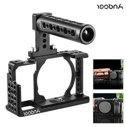 Andoer Protective Video Camera Cage + Top Handle Kit Aluminu