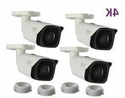 Q-See 4K  4-pack Camera IP Ultra-HD with H.265
