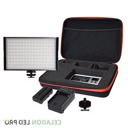 Radiant XL 144 SMD On Camera Video LED Panel Light Kit, CRI