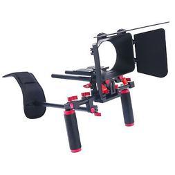 Red DSLR Video Rig Set Movie Kit Film Making System Shoulder