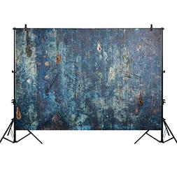 Allenjoy 7x5ft Retro Blue Wood Floor Wooden Wall Photography