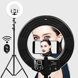 Ring Light GVM 14-inch LED with Light Stand 36W 5500K Lighti