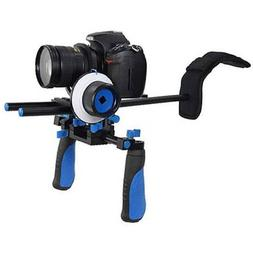 CowboyStudio RL02F+R Camcorder Steady Shoulder Rig and Follo