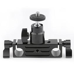 CAMVATE 15mm Rod Clamp Railblock Articulated 1/4 Hot Shoe Mo