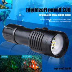 Scuba Diving Waterproof 100M LED Flashlight Video Camera Pho