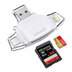 SD Card Reader,BOMAX TF Card Reader & USB C Card Reader Memo