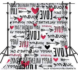 OUYIDA 10X10FT Seamless Valentine's Day Theme Pictorial Clot