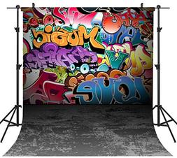 OUYIDA 8X8FT Seamless Wall Graffiti Style Pictorial Cloth Ph