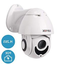 Security Camera,LEFTEK PTZ POE Camera Outdoor Mini H.265 Net