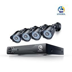 JOOAN Security Camera System 8 CH 1080N DVR 4x720P Pro HD-TV