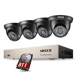 ZOSI 8CH 1080P Video Security DVR System and  HD 2.0MP 1920T