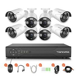 HD Security Camera System,SMONET 8CH 1080N Home Security Ca