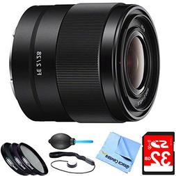 SEL28F20 - FE 28mm F2 E-mount Full Frame Prime Lens Bundle i