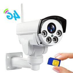 960P 3G 4G SIM Card Camera WiFi Outdoor PTZ HD Bullet Camera