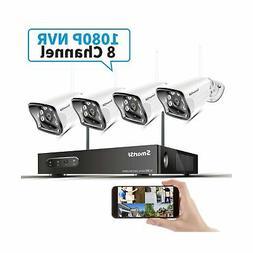 SmartSF 8CH 1080P Wireless Security Cameras System,H.265 8Ch
