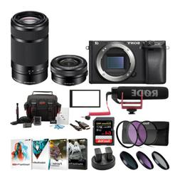 Sony Alpha a6500 Digital Camera w/ SELP1650 16-50mm & SEL552