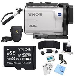 Sony FDR-X3000 4K GPS Action Camera, Selphie Stick, 32GB Car