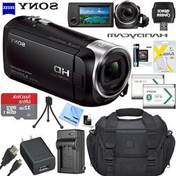 Sony HDRCX405 HD Video Recording Handycam Camcorder Bundle w