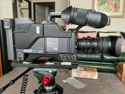 SONYdxc-327a color video camera,ca-537 camera adptor dfx-501