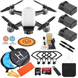 DJI Spark Drone Quadcopter  with 3 Batteries, Camera Gimbal