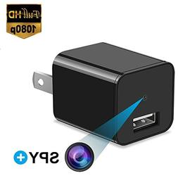 Hidden Spy Camera 1080P HD USB Wall Charger For Use In Secur