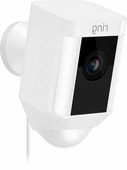 RING SPOTLIGHT CAM Wired White Wireless Security Camera 8SH1