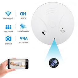 Spy Hidden Camera, ZDMYING WiFi Smoke Detector Camera, HD108