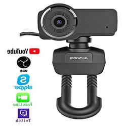 Ausdom HD Streaming Webcam, Widescreen Full HD 1080P Video C