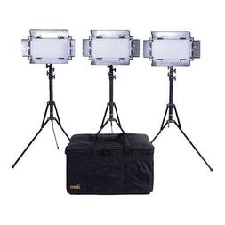 Ikan LED Studio Light Kit, Includes 3x IB508-v2 Bi-color LED