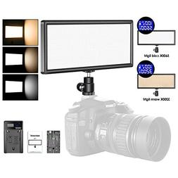 Neewer Super Slim Bi-Color Dimmable LED Video Light with LCD