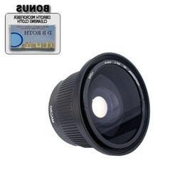 .. 0.42x HD Super Wide Angle Panoramic Macro Fisheye Lens Fo