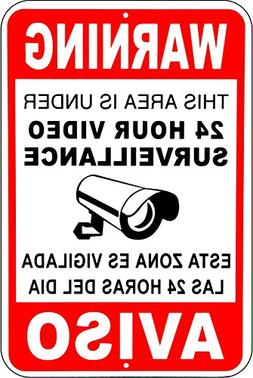 Video surveillance cctv signs security camera signs Metal Al