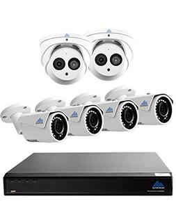 Montavue 4K Surveillance System with 6 4MP IP Security Camer