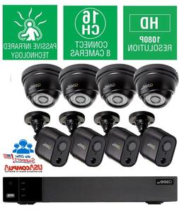 Q-See Home Security System, 16 Channel 1080P Analog HD DVR w