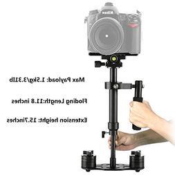"""Dazzne S40 Camera Stabilizer DSLR 15.75""""/40cm Steadycam with"""