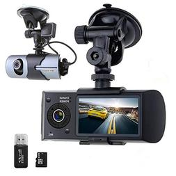 Think Sogood Dual Lens Car Video Camera, 2.7'' Dashboard