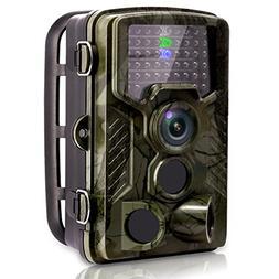 VENLIFE Trail Camera, 16MP 1080P 120° PIR Sensor Wildlife