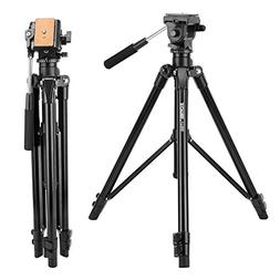 Zomei Video Tripod VT555 with Professional 360°Degree Fluid