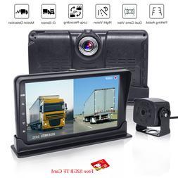 Truck Bus RV DVR 1080P Video 2CH FHD Recorder 7'' Dual Split