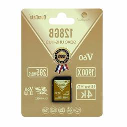 Amplim 128GB UHS-II SDXC SD Card Blazing Fast Read 285MB/S