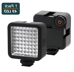Ultra Bright LED Video Light,Elivern Perfect 49 Led Camera L