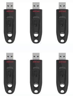 SanDisk  6-Pack 16GB Ultra USB 3.0 Flash Drive with Password
