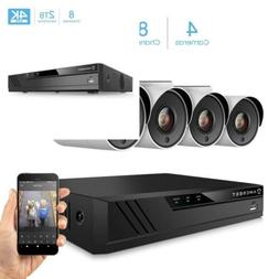 UltraHD 4K 8CH Video Home Security Camera System with 4 x  I