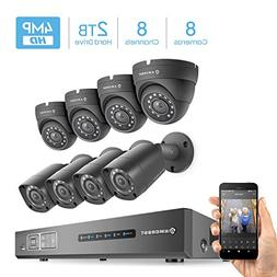 Amcrest UltraHD 4MP 8CH Video Security System - Eight 4MP We