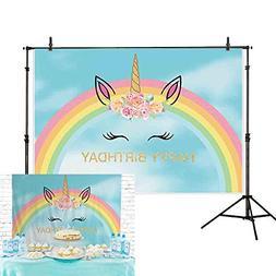 Allenjoy 7x5ft Unicorn photography backdrop dessert table de